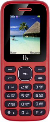 Телефон сотовый Fly FF188 Red, 1.77'' 128x160, 260MHz, 32MB RAM, 24MB, up to 32GB flash, 2 Sim, 2G, BT v3.0, Micro-USB, 800mAh, 71g, 112x47x14,3 телефон сотовый fly flip red 2 4