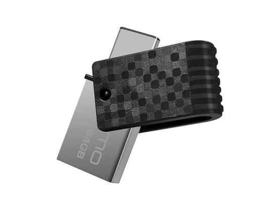 USB флешка Qumo Hybrid 2 64GB Black (QM64GUD3-Hyb2) USB 3.0/ Type-C цена и фото