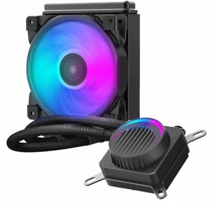 Комплект водяного охлаждения PCCooler GI-AH120U HALO RGB LGA2066/2011/1366/115х/775/AM4/FM1/2/2+/AM2/2+/3/3+ (8шт/кор, TDP 180W, 4 pin 12V RGB подсветка, 120mm PWM VortexPro FAN) RET