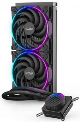 Комплект водяного охлаждения PCCooler GI-AH280C CORONA FRGB LGA2066/2011/1366/115х/775/AM4/FM1/2/2+/AM2/2+/3/3+ (8шт/кор, TDP 300W, 3 pin 5V RGB подсветка, 2х140mm PWM VortexPro FAN) RET комплект водяного охлаждения pccooler gi ah360c corona rgb lga2066 2011 1366 115х 775 am4 fm1 2 2 am2 2 3 3 8шт кор tdp 350w 4 pin 12v rgb подсветка 3х120mm pwm vortexpro fan ret