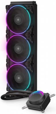 Комплект водяного охлаждения PCCooler GI-AH360C CORONA RGB LGA2066/2011/1366/115х/775/AM4/FM1/2/2+/AM2/2+/3/3+ (8шт/кор, TDP 350W, 4 pin 12V RGB подсветка, 3х120mm PWM VortexPro FAN) RET 2pcs 12v mini cooling computer fan small 40mm x 10mm dc brushless 2 pin 3000rpm 40 oil bearing 2018
