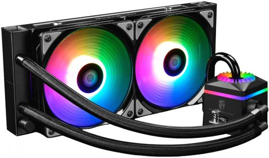 Комплект водяного охлаждения DEEPCOOL CAPTAIN 240 PRO LGA20XX/LGA1366/LGA115X/TR4/AM4/AM3/+/AM2/+/FM2/+/FM1 (8шт/кор,TDP 250W, RGB Lighting, PWM, DUAL 120mm FAN) RET