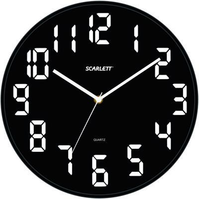 Часы настенные Scarlett SC 55BL цена 2017