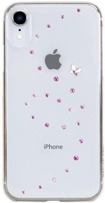 Накладка Bling My Thing Papillon: Rose Sparkles для iPhone XR прозрачный