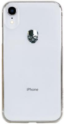 Накладка Bling My Thing Treasure: Silver Skull для iPhone XR прозрачный