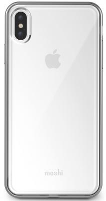 Накладка Moshi Vitros для iPhone XS Max прозрачный серебристый 99MO103203 клип кейс moshi vitros для apple iphone xr серебристый