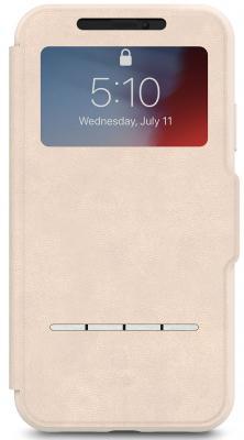 Чехол-книжка Moshi SenseCover для iPhone XR бежевый 99MO072111 цена и фото