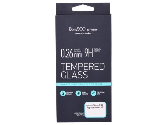 Защитное стекло 3D BoraSCO 19775 для iPhone 6 6S черная рамка