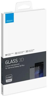 Защитное стекло Deppa 3D для Samsung Galaxy S8 Plus, 0.3 мм, черное (63351) стоимость