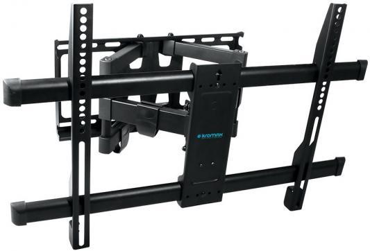 Кронштейн Kromax GALCTIC-56 Black для LED/LCD TV 32-75, max 60кг, 4ст свободы, от стены 65-395мм, max VESA 400x400 мм