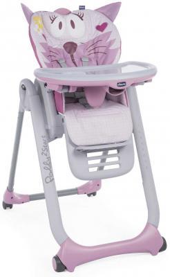 Стульчик для кормления Chicco Polly 2Start (miss pink) chicco chicco стульчик для кормления polly 2start shark