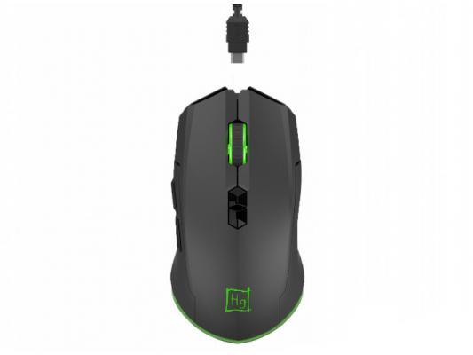 Мышь Harper Gaming WGM-01 Black USB беспроводная, оптическая, 4000 dpi, 6 кнопок + колесо weyes ms 929 wired 6 key usb 2 0 800 1000 1600 2400dpi optical gaming mouse black green