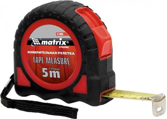 Рулетка MATRIX 31080 strong 5мх19мм обрезиненный корпус рулетка matrix 31029