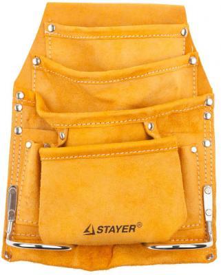 Сумка STAYER 38505 поясная master для инструментов кожаная 8карманов 2скобы стоимость