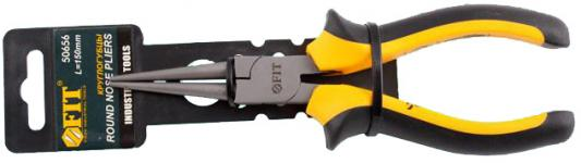 Утконосы FIT 50656 круглогубцы стайл черно-желтая ручка молибденовое покрытие 165мм тонконосы fit 50636 стайл черно желтая ручка молибденовое покрытие 160мм