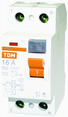 УЗО TDM SQ0203-0004 ВД1-63 2Р 16А 30мА цена
