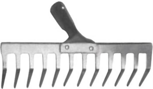 Грабли FIT 77009  12 прямых зубьев, 100х350мм, сталь, без черенка