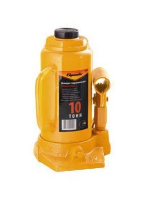 Домкрат SPARTA 50325 бутылочный 10т h подъема 200-385мм домкрат гидравлический бутылочный sparta телескопический 10т 50345