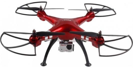 Фото - Квадрокоптер Syma X8HG, красный видео