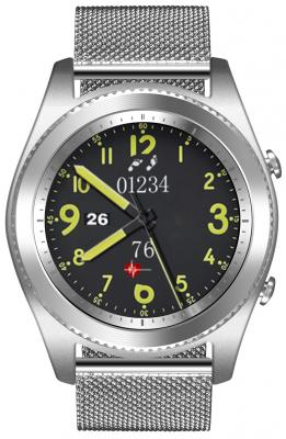 Умные часы NO.1 S9 серебро, ремешок сталь no 1 s9 nfc smart watch with leather strap black