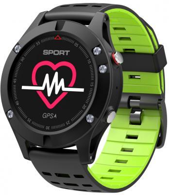 Умные часы NO.1 F5 черно-зеленые
