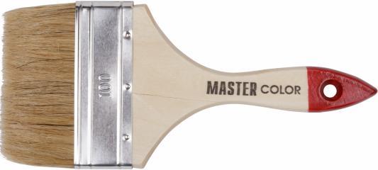 Кисть флейцевая MASTER COLOR 30-0016 натур. щетина 55% топс лакиров.ручка ширина 100мм