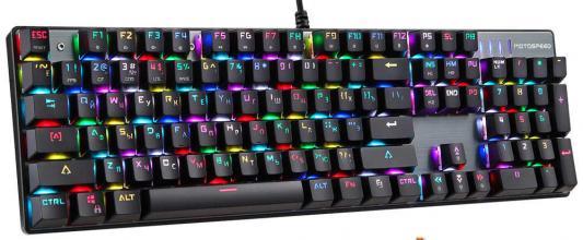 Клавиатура проводная Motospeed CK104 RGB USB черный motospeed g118 usb 2 0 wireless 1200dpi