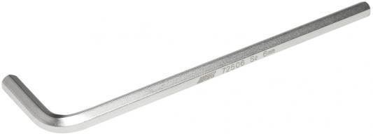 Ключ JTC 72506 шестигранный Г-образный удлиненный H6 ключ шестигранный jtc г образный h13 jtc 71513