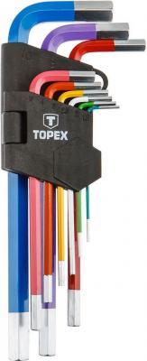 Ключ TOPEX 35D966 и шестигранные 1.5-10мм набор 9 шт цена