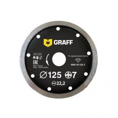 Круг алмазный GRAFF GDD 16 125.7 сплошной по керамической плитке 125х7х2.0х22.23мм цены онлайн