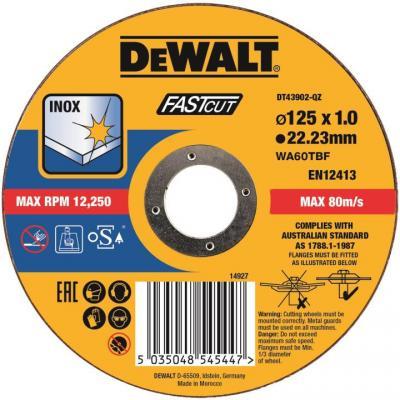 Картинка для Круг отрезной DEWALT DT43902-QZ  Быстр рез,125x22.2x1мм,тип41