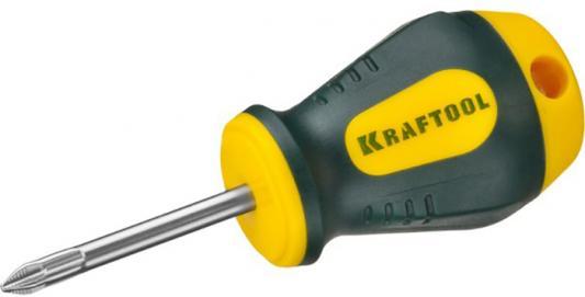 "Отвертка KRAFTOOL ""EXPERT"", Cr-Mo-V сталь, двухкомпонентная противоскользящая рукоятка, PH, №1x38 мм [250072-1-038] цена"