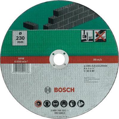 Bosch 2609256331 ОТРЕЗНОЙ КРУГ КАМЕНЬ 230Х3 ММ DIY