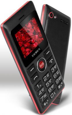 TEXET TM-106 мобильный телефон цвет черный-красный plein sud свитер с короткими рукавами