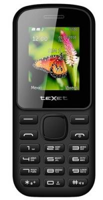 Мобильный телефон Texet 130-TM красный черный texet tm 317 красный мобильный телефон