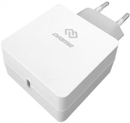 Фото - Сетевое зарядное устройство Digma DGPD-18W-WG USB-C 3 А белый зарядное