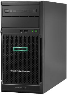 Сервер HPE ProLiant ML30 Gen10 1xE-2124 1x8Gb 2x1Tb 7.2K LFF SATA RW S100i 1G 2P 1x350W (P06761-001) цена