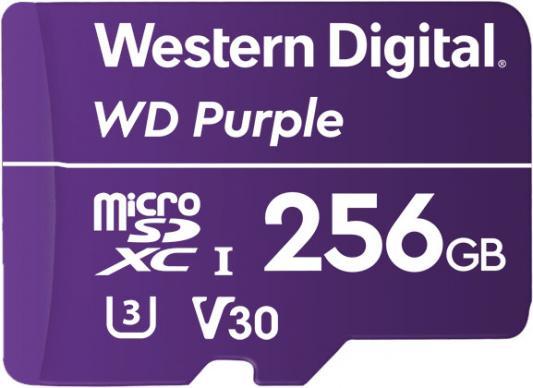 Флеш карта microSDXC 256Gb Class10 WD WDD256G1P0A Purple w/o adapter флеш карта microsdxc 256gb class10 kingston sdcs 256gb adapter