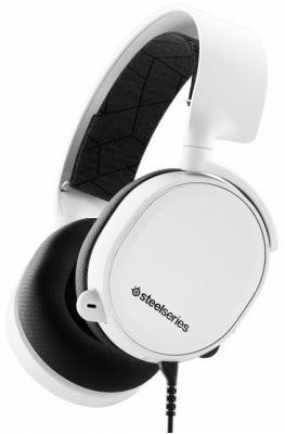 лучшая цена Игровая гарнитура проводная Steelseries Arctis 3 2019 Edition белый черный
