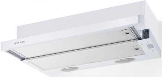 Вытяжка встраиваемая Faber Flexa GLASS M6 W A60 белый управление: ползунковое (1 мотор) встраиваемая вытяжка faber flexa hip am x a 50 м кассета