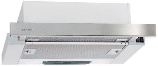 Вытяжка встраиваемая Faber Flox IX A60 нержавеющая сталь управление: кулисные переключатели (1 мотор) цена и фото