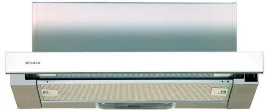 Вытяжка встраиваемая Faber Flox WH A60 белый управление: кулисные переключатели (1 мотор) вытяжка faber value pb 4 2l a60 white