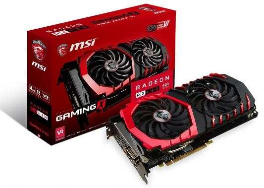 Видеокарта 4096Mb MSI Radeon RX 480 PCI-E DVI HDMI DP HDCP RX 480 GAMING X 4G Retail из ремонта видеокарта 2048mb msi r7 250 2gd3 oc pci e dvi hdmi dp hdcp retail