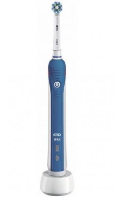 Зубная щетка электрическая Oral-B Professional Clean 2000 белый/голубой электрическая зубная щетка braun oral b professional clean professional care 500 голубой
