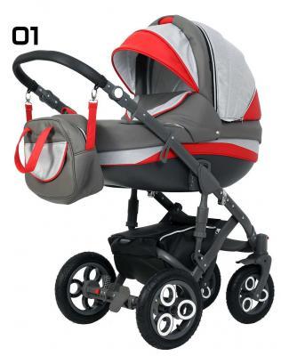 Коляска 2-в-1 Rant Marcello (01/серый-красный) коляска rudis solo 2 в 1 графит красный принт gl000401681 492579