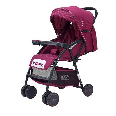 Купить Коляска прогулочная Rant York (purple), фиолетовый, Прогулочные коляски