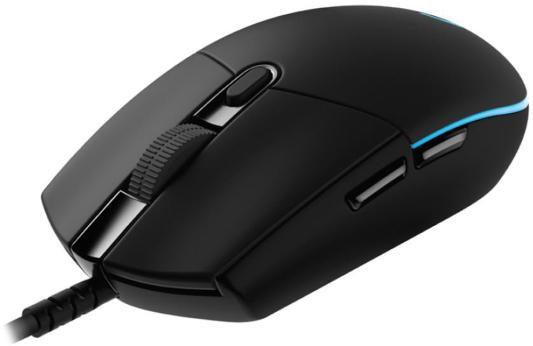 Мышь Logitech G PRO HERO Black USB проводная, оптическая, 16000 dpi, 5 кнопок + колесо мышь logitech g pro wireless mouse black usb