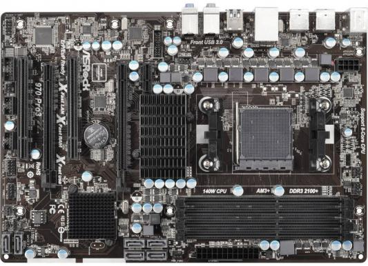 Материнская плата ASRock 970 Pro3 R2.0 Socket AM3+ AMD 970 4xDDR3 2xPCI-E 16x 2xPCI 1xPCI-E 1x 6xSATAIII ATX Retail из ремонта материнская плата gigabyte ga 970a ds3p socket am3 amd 970 4xddr3 2xpci e 16x 2xpci 3xpci e 1x 6xsataiii atx retail