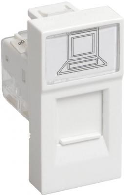 Iek (CKK-40D-RI1-K01 ) РКИ-10-00-П Розетка информационная RJ-45 UTP кат.5e (на 1 модуль) ПРАЙМЕР белая розетка legrand mosaic rj 45 utp кат 5e 1 модуль белый lcs2 76551