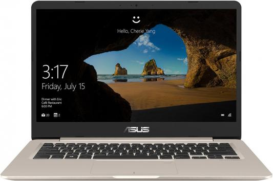 Ноутбук Asus S406UA-BM256T (90NB0FX1-M09640) i5-8250U (1.6) / 8Gb / 256Gb SSD / 14 FHD IPS / UHD Graphics 620 / Win10 Home / Icicle Gold 27 asus mx27uq icicle gold black 90lm02bb b01670